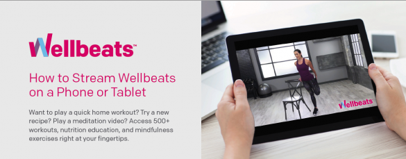 How to stream Wellbeats on your phone or tabletn